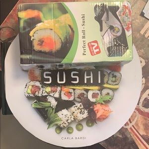 Other - Sushi roller and Sushi recipe book